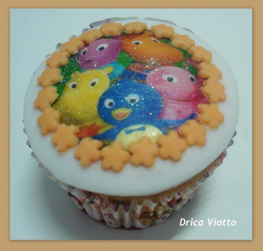 cupcake com pasta americana