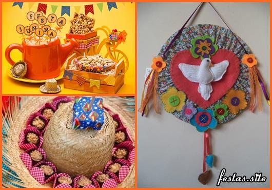 Decoração de Festa Junina Simples com enfeite artesanal