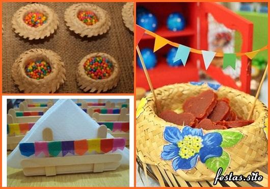Decoraç u00e3o de Festa Junina Simples u2013 45 Ideias Incríveis Gastando Pouco! -> Ideias Para Decoração De Festa Junina Simples