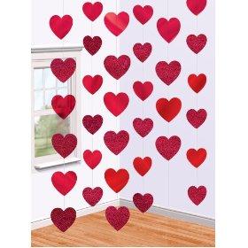 Decoração Dia das Mães com cortina de corações de EVA