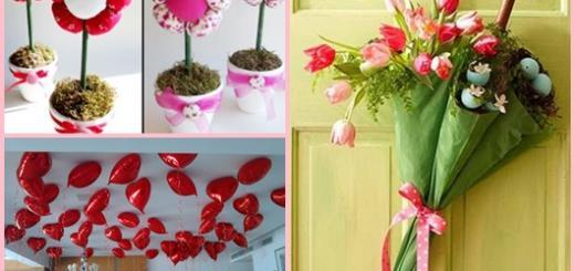 Decoração Dia das Mães com flores de tecido