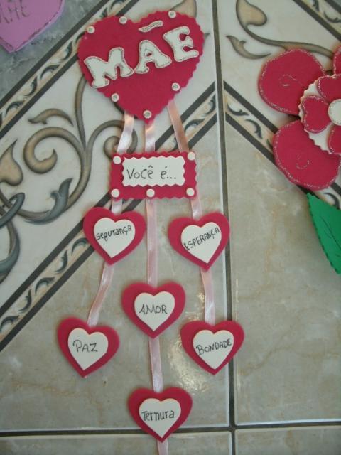 Decoração Dia das Mães com corações