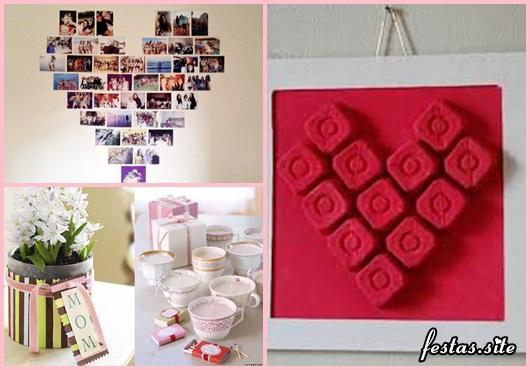 Decoração Dia das Mães com painel de fotos