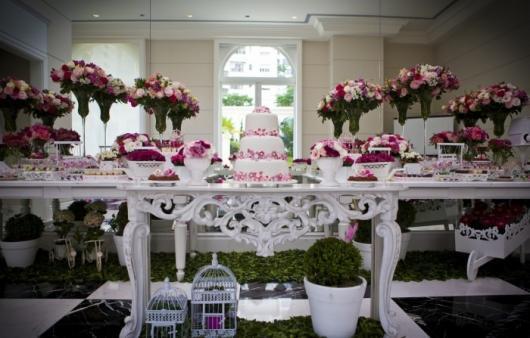 Decoração Provençal para casamento branca e rosa