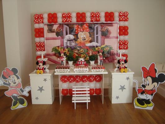 Decoração Provençal tema Minnie com display de chão