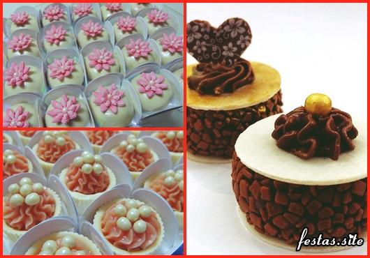 Doces para Casamento brifadeiro gourmet com coração de chocolate