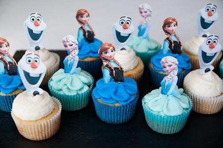 Doces Personalizados Frozen cupcake