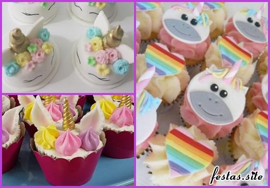 Doces Personalizados cupcake de unicórnio