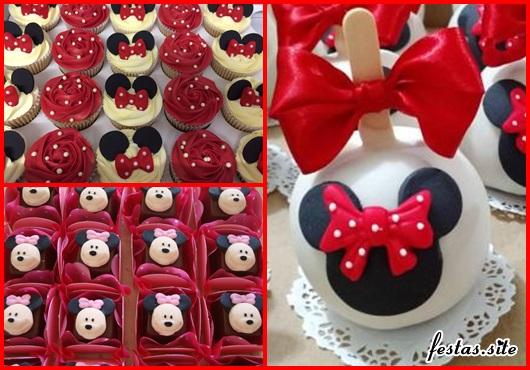 Doces Personalizados Minnie cupcake