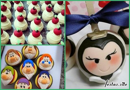 Doces Personalizados Branca de Neve cupcake