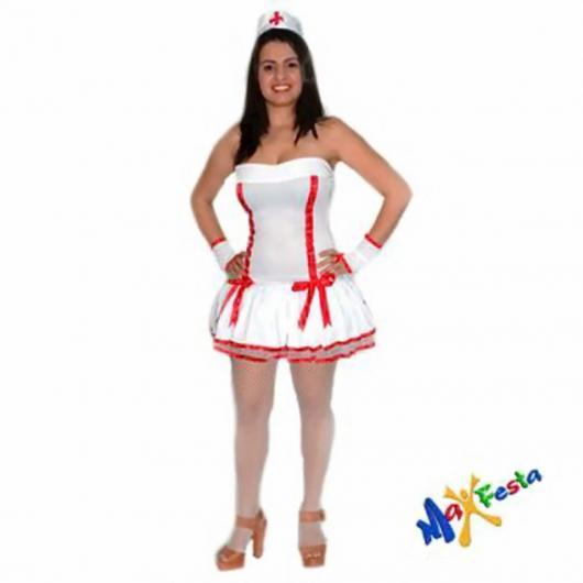 Fantasia de Enfermeira para Carnaval com munhequeira