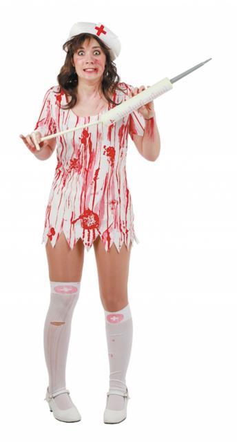 Fantasia de Enfermeira para Halloween improvisada