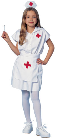 Fantasia de Enfermeira Infantil com meia calça branca