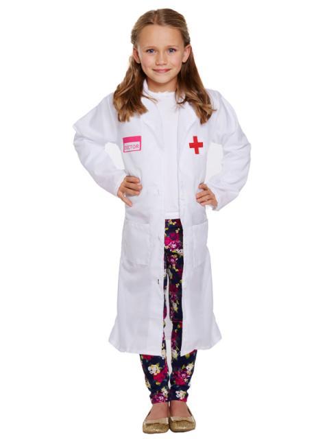 Fantasia de Enfermeira Infantil com jaleco branco