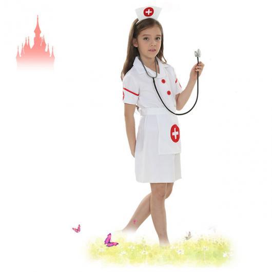 Fantasia de Enfermeira Infantil com quebe