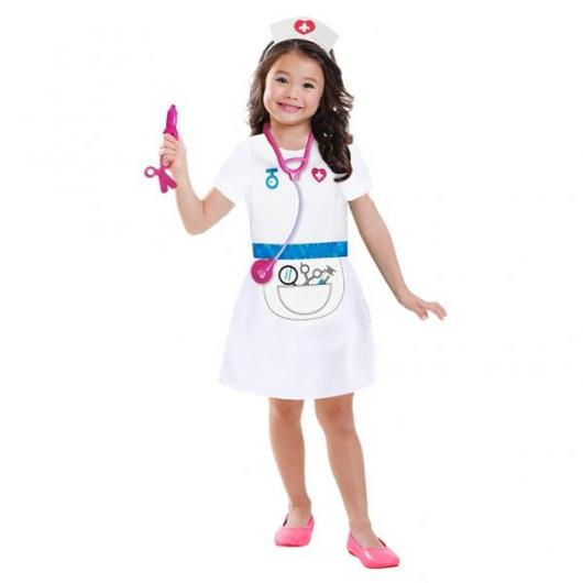 Fantasia de Enfermeira Infantil estampada