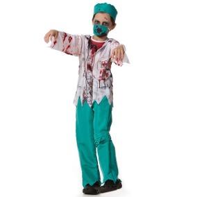 Fantasia de Enfermeira Infantil verde e branca
