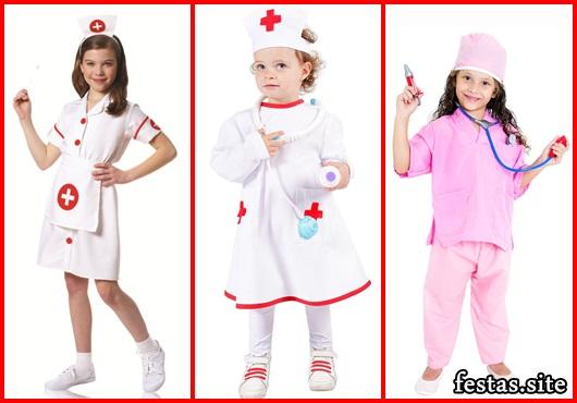 Fantasia de Enfermeira Infantil rosa