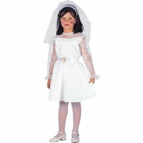 Fantasia Noiva Cadáver infantil com véu