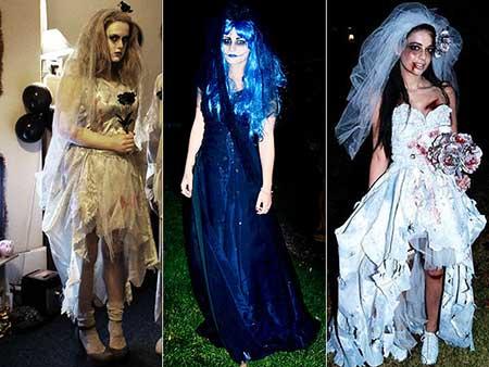 Fantasia Noiva Cadáver azul escuro longo