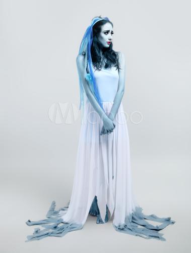 Fantasia Noiva Cadáver com maquiagem realista