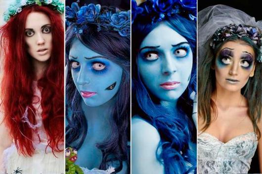 Fantasia Noiva Cadáver maquiagens