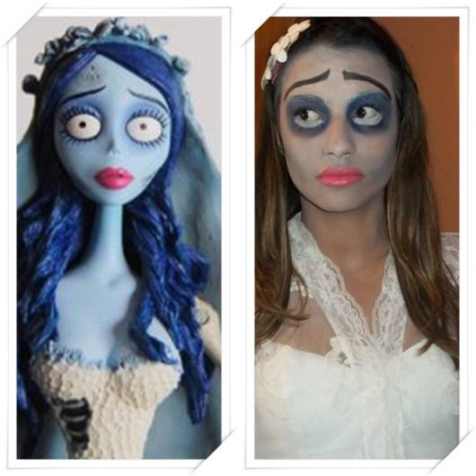 Fantasia Noiva Cadáver maquiagem