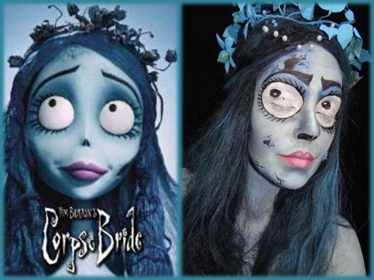 Fantasia Noiva Cadáver maquiagem realista