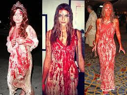 Fantasia Noiva Cadáver com sangue falso
