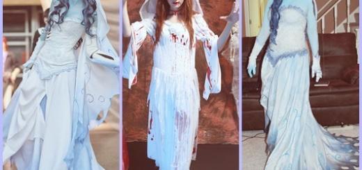 Fantasia Noiva Cadáver modelos com vestido longo