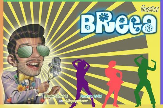 Festa Brega convite com animação