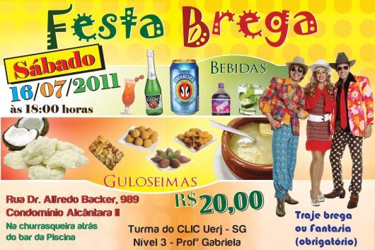 Festa Brega convite cartão com foto