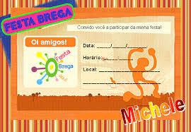 Festa Brega convite cartão laranja