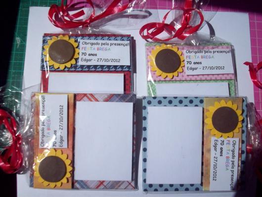 Festa Brega lembrancinha porta bilhete personalizado