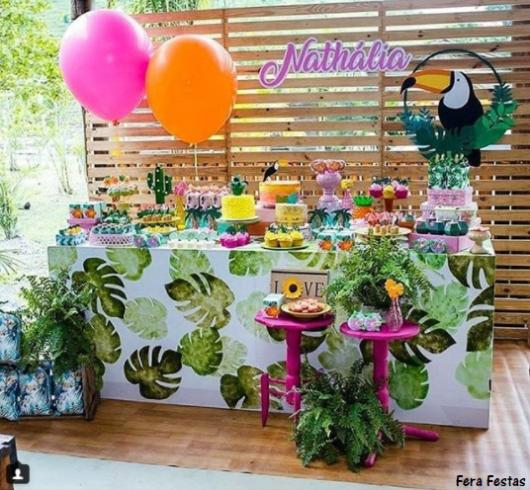 decoração festa tropical