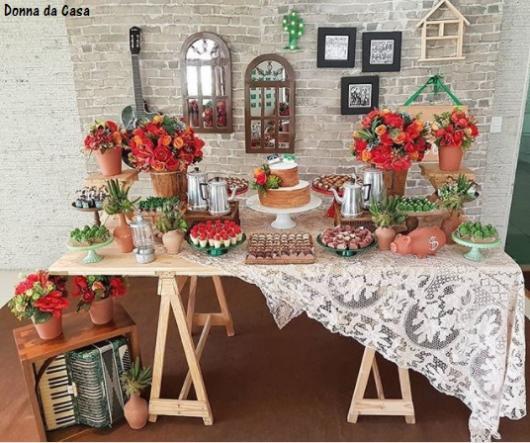 decoração festa nordestina