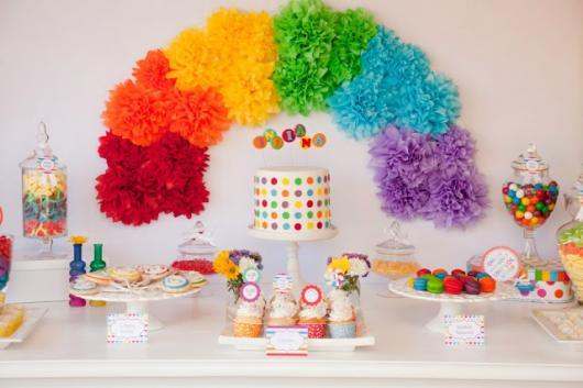 decoração simples festa infantil