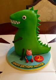 bolo festa George Pig com dinossauro grande