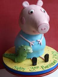 dica de decoração para bolo festa George Pig
