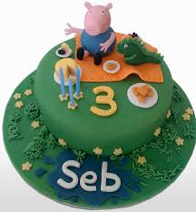 lindo bolo para festa George Pig