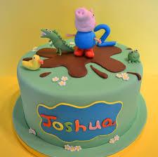 bolo festa George Pig com dinossauro