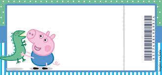 convite pronto festa George Pig