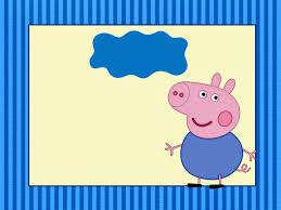 convite para imprimir festa George Pig