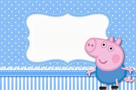 modelo de convite festa George Pig