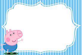 convite festa George Pig para preencher