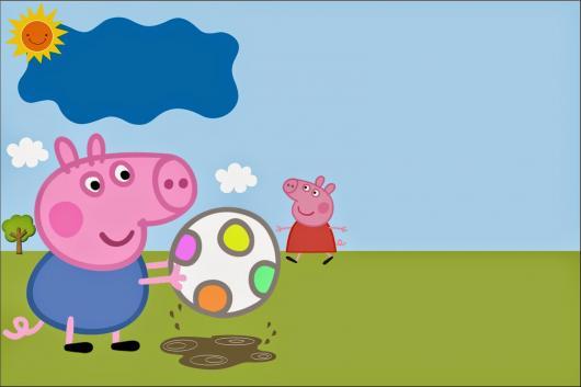 convite festa George Pig pronto