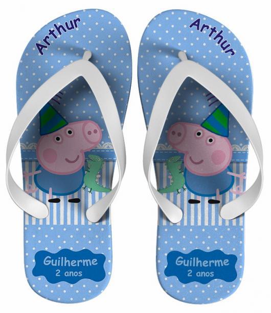 sandália personalizada para festa George Pig