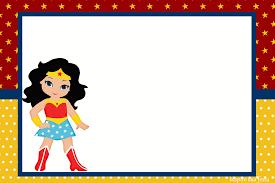 Festa Mulher Maravilha convite cartão simples