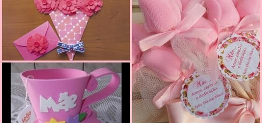 Lembrancinha Dia das Mães xícara de EVA