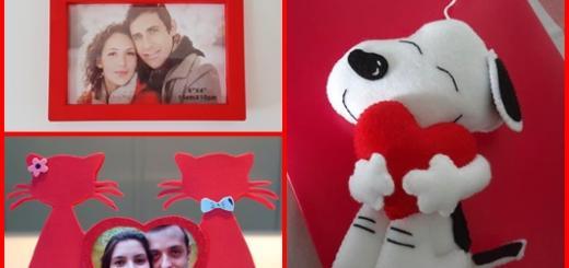 Lembrancinha Dia dos Namorados porta retrato no formato de gatinhos